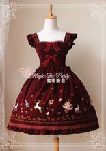 Magia tea party women winter dress rojo bordado jsk lolita dress party girls dulce kawaii dress
