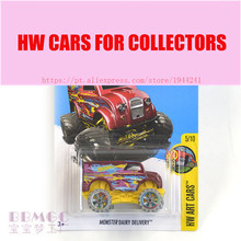 New Arrivals 2017 Hot Wheels 1:64 Monster Dairy Delivery Metal Diecast Cars Collection Kids Toys Vehicle For Children(China)