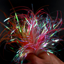 Lure Fishing Tinsel Fly-Tying-Material Flashabou Holographic Nymph 2mm Back-Jig Body-Wrap