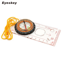 Eyeskey Orienteering Outdoor Camping Hiking Directional Compass Baseplate Ruler Map Scale Compass Handheld Camping Equipment