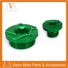 Motorcycle CNC Billet Engine Timing Plug Cover Screw For Kawasaki KX250F KXF250 2004 2005 2006 2007 2008 2009 2010 RMZ250 04-06(China)