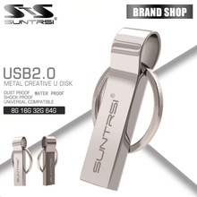 Suntrsi Pen Drive 64GB Metal USB Flash Drive Key Ring USB Stick High Speed Pendrive 32GB USB Flash Real Capacity Customized logo