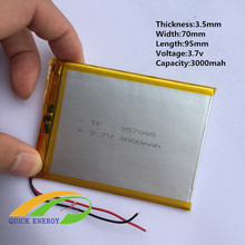 Buying flat battery thium battery 3000MAH Onda other common rechargeable battery polymer battery 357095