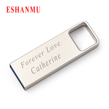 Eshanmu Superior Quality USB 2.0 4GB 8GB 16GB 32GB Usb Flash Drive Metal Pendrive Customzied With Your Logo Bulk Cheap Best Gift