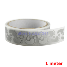 25mm x 1 Meter High Visibility Safely Silver Reflective DIY Tape Iron On Fabric Clothes Heat Transfer Vinyl Film M18(China)
