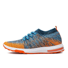 Breathable Mesh Summer Running Shoes for men Cushioning sneakers Outdoor Walkng jogging shoes Trainer Athletic Shoes male(China)