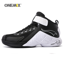 ONEMIX Brand Basketball Shoes Man Sport Trainers Black Red White Outdoor Sneakers Athletic Men Big US size 6-12 baloncesto(China)