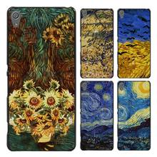 van gogh Style Case Cover for Sony Ericsson Xperia X XZ XA XA1 M4 Aqua E4 E5 C4 C5 Z1 Z2 Z3 Z4 Z5