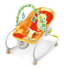 Free shipping Orange baby rocking chair portable folding chaise lounge multifunctional cradle bed baby bouncer