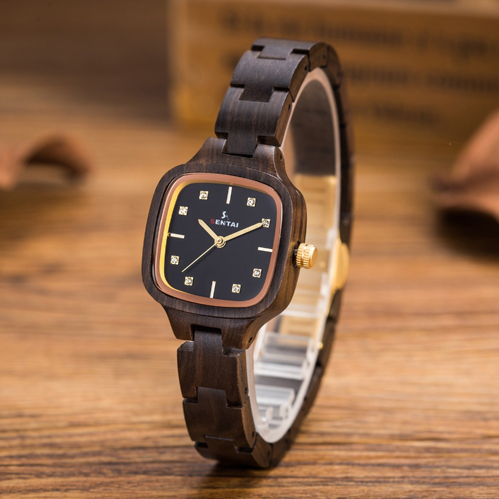 2017 Fashion Casual Wood Watch Womens watch Top Luxury Brand Women for Gifts Ladies Quartz Wooden Wristwatch relogio feminino <br>