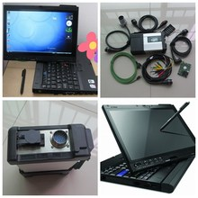 Super MB Star C5 SD Connect with laptop X200T Touch screen diagnostic with mb star c5 newest software V2017.09 hdd for mb sd c5(China)