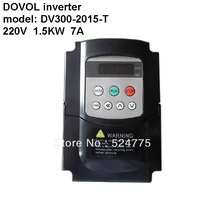 DV300-2015-T 1.5KW 1500W dc ac 220V 7A dovol inverter motor variable frequency converter 50hz 60hz(China)