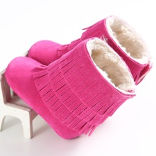 Plus Velvet Baby Shoes Winter Warm Baby Girl First Walkers Fashion Soft Soles Toddler Girl Crib Shoes Infant Snow Boots