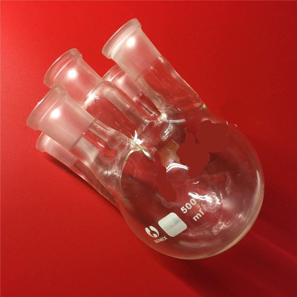 500ml,24/29*5,5-neck,Round bottom Glass flask,Lab Boiling Flasks,five neck laboratory glassware reactor<br>
