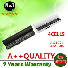 Wholesale New 4cells laptop battery  FOR  Asus Eee PC 900A 900 703  900HD 900HA Series SL22-900A  AL22-703  free shipping