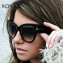 ROYAL GIRL Luxury Brand Designer Women Sunglasses Oversize Acetate Cat Eye Sun Glasses Sexy Shades ss649(China)