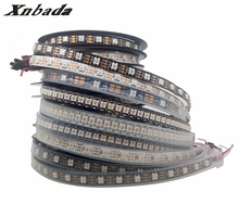 1m 2m 3m 4m 5m WS2812B 30/60/74/96/144Led/m RGB Led Strip,WS2812 5050SMD Black/White Board Ip30/Ip65/Ip67 DC5V(China)