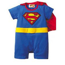 new children Halloween costumes suit Baby Superman Batman Long Sleeve Smock Infant Romper Girl Boy Clothing Sets(China)