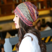 Female grid Pattern Turban Spring And Autumn Women scarf outdoor multifunction hat caps for young lovers