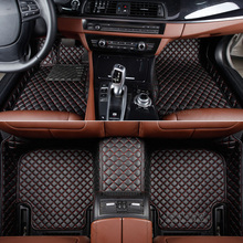 Custom fit car floor mat for Ford Mustang coupe Ranger T6 F-150 Raptor Navigator Fiesta Fusion Mondeo Kuga Escape carpet rugs(China)