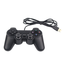 Wired USB 2.0 Black Gamepad Joystick Joypad Game Controller for PC Laptop for Raspberry Pi 3 for PS3 for Sony Playstation(China)