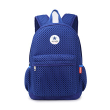 Holesale Mesh Teenagers Schoolbag Light Backpack Casual Satchel Bag Multifunctional Back Care Alleviate excessive Burden Mochila(China)
