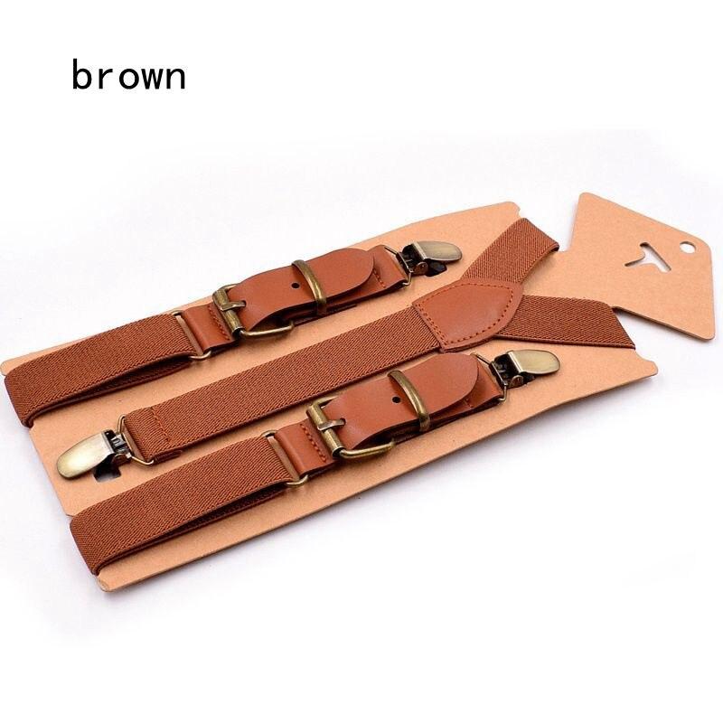 brown suspender kids