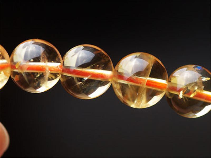 12mm Natural Citrine Quartz Crystal Round Beads Yellow Bracelets Gemstone Stone Stretch Wealthy Woman ManAAAAAA (3)