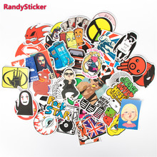 Hot Fashion Cute Design Doodle Funny Cartoon Sticker For Skateboard Laptop Luggage Fridge Toy Styling Sticker