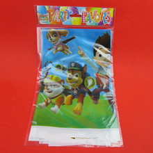 1pcs 180 * 108cm New Arrivals tablecloth patrol kicking dog cartoon table cover cloth Chico child birthday party house