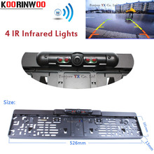 Waterproof Car Europe License Plate Frame Rearview Camera W/4 LED Night Vision European License Plate,Free Shipping