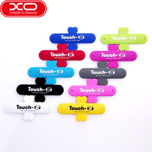 10Pcs/Lot Mini Touch U Silicone Phone Holder,XO One Touch U Shape Silicone Stand Back Sticker For iPhone 7 Smartphones PC(China)