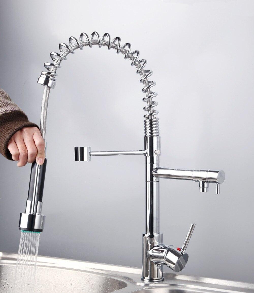 8525/55 Best Sale wholesale and retail Water Power Solid Brass Chrome Kitchen Faucet Vessel swivel spout faucet Mixer Tap Faucet<br><br>Aliexpress