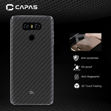 5pcs For LG G6 H870 H871 H872 Screen Protector Original CAPASAE 3D Carbon Fiber Pattern Transparent Back Protective Film Sticker(China)