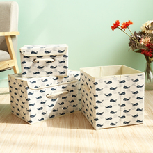 3 sizes folding Cartoon storage box clothes organizer kid toys storage bin Laundry dirty clothes storage box desktop organizers