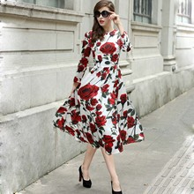 Autumn Women dress 15 Fan Bingbing Conference New Dynasty With D Home Roses Dresses Design And Color 8132