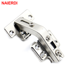 4PCS NAIERDI 135 Degree Corner Fold Cabinet Door Hinges 135 Angle Hinge Hardware For Home Kitchen Bathroom Cupboard With Screws(China)