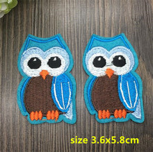 New arrival 10 pcs blue bird Embroidered patches iron on cartoon Motif RS Applique embroidery accessory