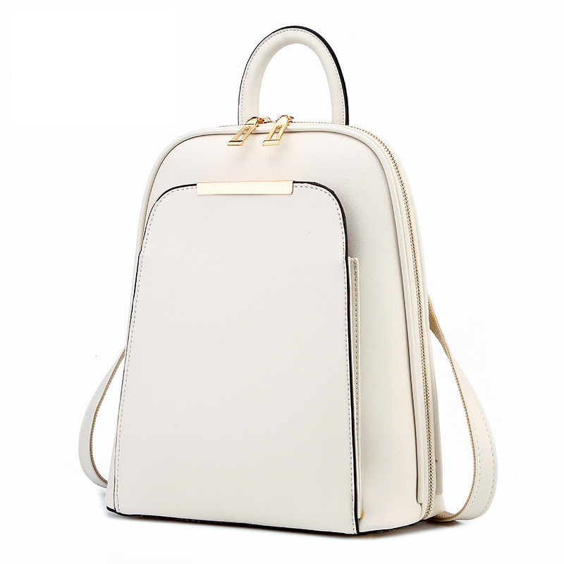 Fashion Simple Style Women Backpacks High Quality Leather School Bags Satchel Brand Design Female Backpack 2017 Youth bag<br>