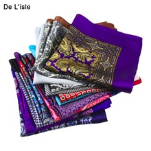 HOT SALE!! High Quality 100% Natural Silk Handmade Pocket Handkerchief Luxury Pocket Square Hanky With Giftbox(China)