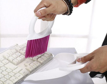 New 1 Set with Mini-dust dustpan small broom, cooking hob dead Desktop keyboard cleaning brush