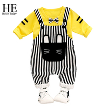 HE Hello Enjoy newborn Baby Boy Clothes winter 2017 infant clothing sets overalls korean baby outfit toddler girl halloween(China)