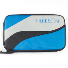 Huieson Rectangle Oxford Cloth Table Tennis Bag for Racket Lightweight Ping Pong Paddle Bat Container Case Blue Patchwork Color(China)