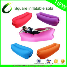 2017 New Hot Nylon Ripstop Fabric Inflatable Air Couch Lazy bag Hangout Sleeping Air Laybag Inflatable Air Bed For Traveling