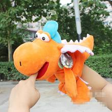 Candice guo NICI plush toy stuffed doll cartoon soft cute dinosaur hand puppet sleep bedtime story baby christmas birthday gift