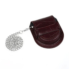 Retro New Fashion and Casual Brown Bamboo pattern Pocket Watch Holder Box Coin Purse Bag With Chain CLAUDIA