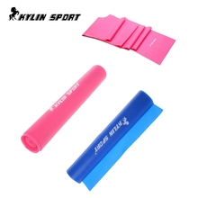 set of 2 elastic yoga resistance band fitness equipment tool 2m power training for wholesale and free shipping kylin sport