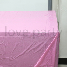 Baby Shower Kids Favors Simple Pink Solid Color Tablecloth Happy Birthday Party Tablecover Decoration Events Maps Supplies 1pcs