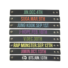 Youpop KPOP BTS Bangtan Boys Album Birthday Bracelets Sport Silicone Wristband Bangles Fashion Accessories For Men Women JNS301