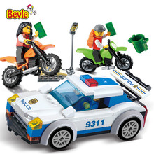 Bevle Gudi 9311 158Pcs City Police Series Police Chase Car Figures Model Building Blocks Compatible with Legoe City Toys